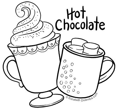 dulemba coloring page tuesday hot chocolate