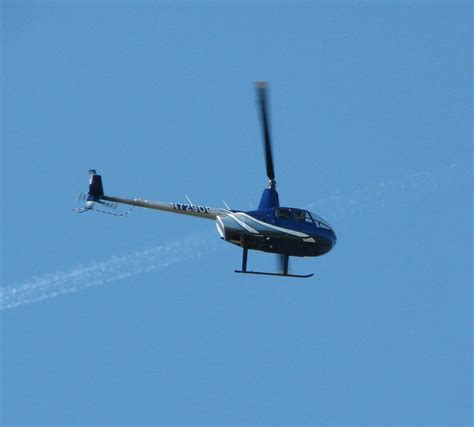 A Small Blue Helicopter In
