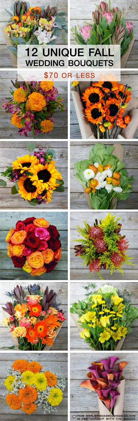 unique fall wedding bouquets priced