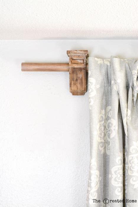 diy corbel curtain rod holders pretty handy girl