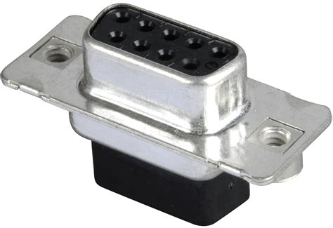 D-sub Socket, 9-pin, Crimp Connector At