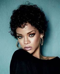 Rihanna Short Curly Pixie Hair Celebrity Short