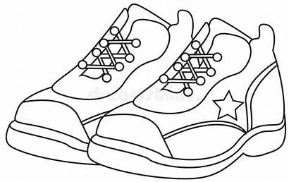 Coloring Shoes Running Pages Nike Cartoon Shoe