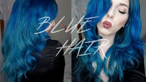 Hair With Blue by Win Your Hairs Adorning Stares By Coloring Them Blue