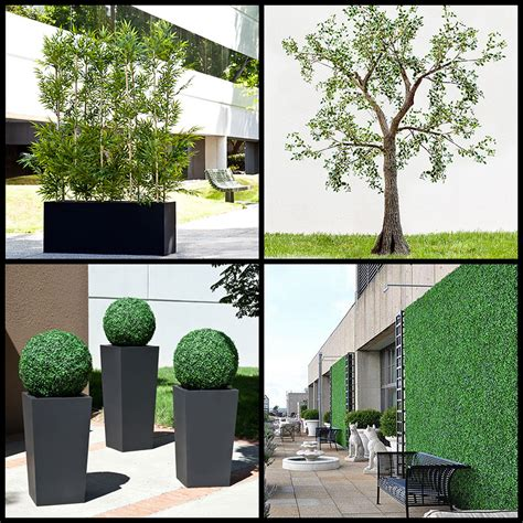 artificial outdoor plants artificial hedges outdoor