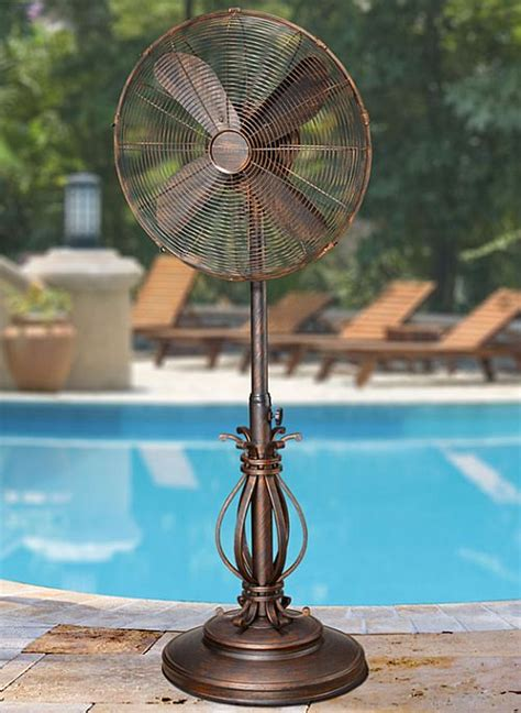 outdoor patio fans prestigious outdoor pedestal fan by decobreeze dbf1080
