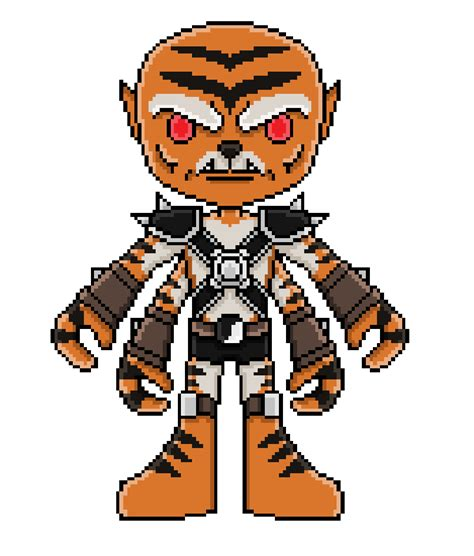 16 Bit Kharacter Kintaro Mortal Kombat By Lkpp On
