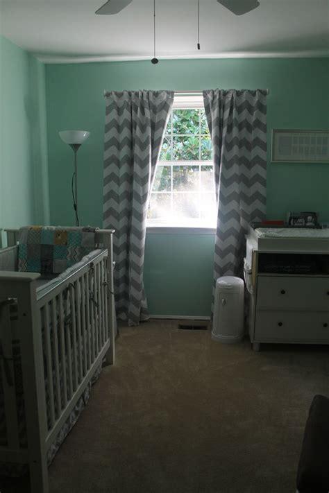mint green grey chevron mustache nursery baby room