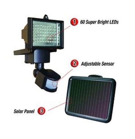 sunforce 60 led solar motion light security wireless