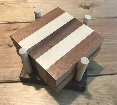wooden coasters chisel fork