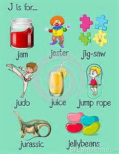 stock illustration different words begin letter j illustration image