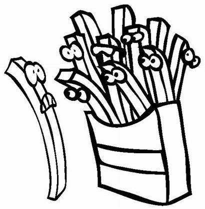 French Coloring Cartoon Fries Coloringsky
