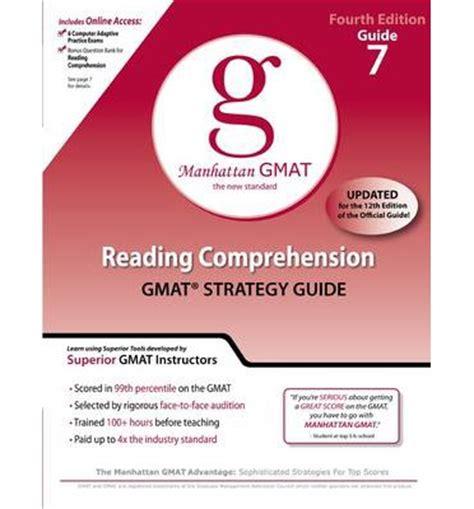 Reading Comprehension Gmat Preparation Guide  Manhattan Gmat 9780982423851