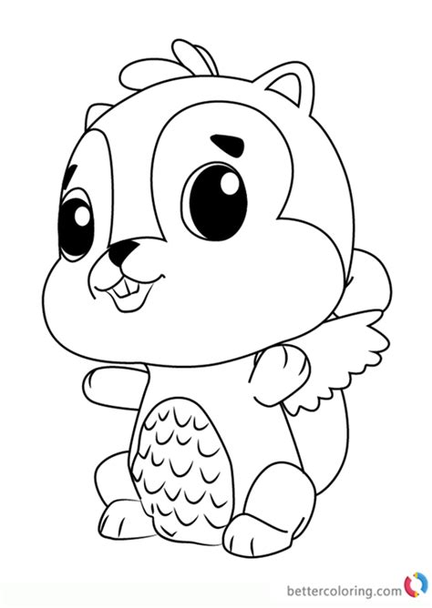 chipadee  hatchimals coloring pages  printable coloring pages
