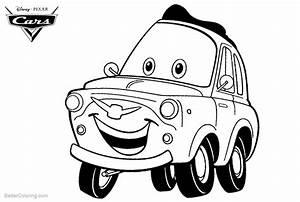 Cars Pixar Luigi Coloring Pages
