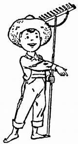 Farm Boy Coloring Pages Professions Kb Wpclipart Print Webp Formats sketch template