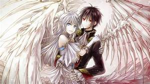 anime guy and anime girl as angels | Angels | Pinterest ...