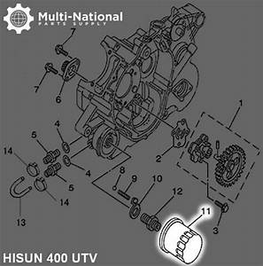 Oil Filter - Hisun  400-700cc  Atv  Utv