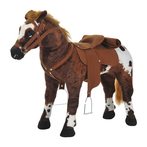 rocking toys for toddlers canada qaba children cowboy standing plush ride on