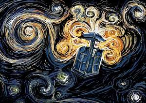 Doctor Who Tardis Starry Night   from BBC web site...happy ...