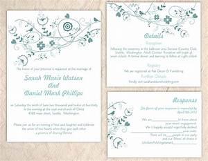 diy wedding invitation template set editable text word With diy wedding invitations in word