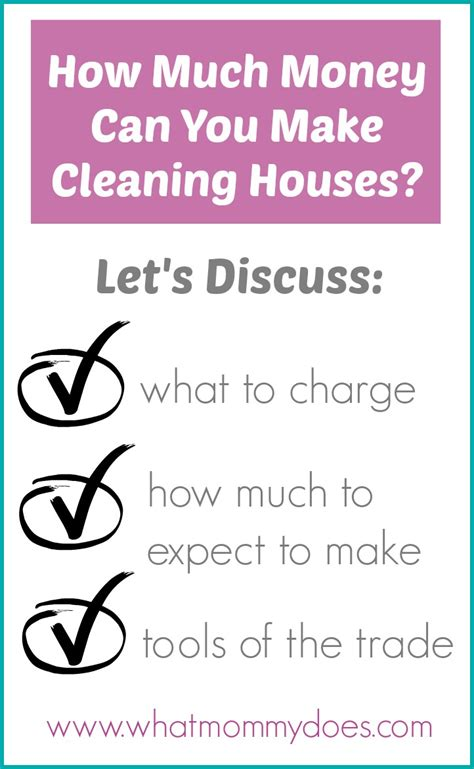 money cleaning houses earnings guide what does