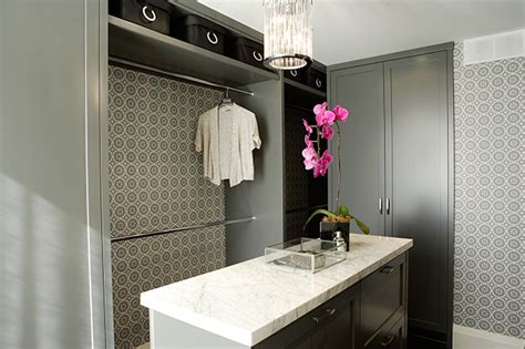 Walk In Closet Wallpaper by Gray Closet Island With Built In Bench Contemporary Closet