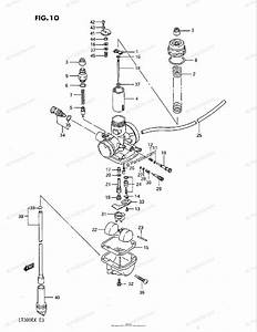 Suzuki Atv 1987 Oem Parts Diagram For Carburetor