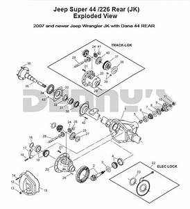 Jeep  U0026gt  Rear Axle Diff Parts  U0026gt  Dana 44 Rear