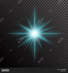 Glowing light burst with sparkles on transparent ...