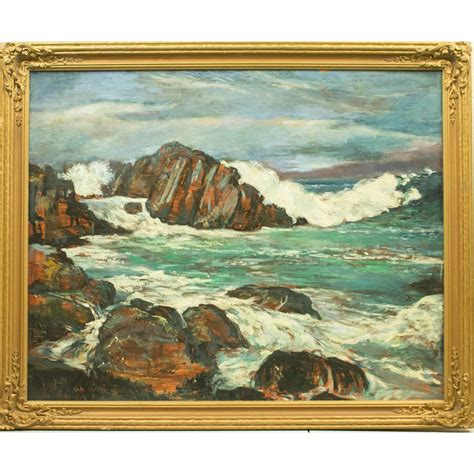 Seascape Painting   Witherell's Auction House