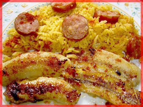 recette riz cuisiné riz brésilien aux bananes et saucisses fumées