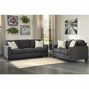 Ashley alenya 2 piece sofa set in charcoal 16601 38 35 pkg for Alenya 2 piece sofa sectional in charcoal