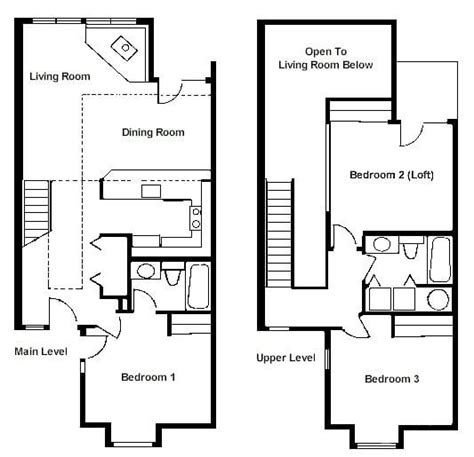 One Bedroom Loft Floor Plans by Luxury 2 Bedroom With Loft House Plans New Home Plans Design