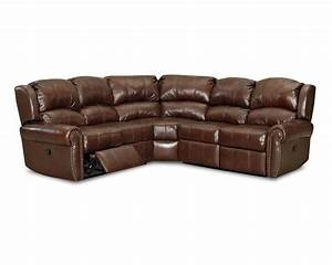 Reclining leather sectionals be seated leather furniture for Sectional sofa with 4 recliners
