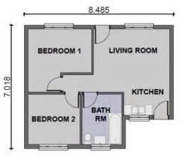 Modern 2 Bedroom House Floor Plans