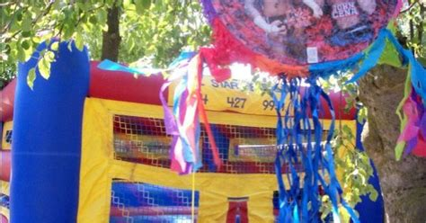 Wwe Birthday Party Bounce House And Pinata