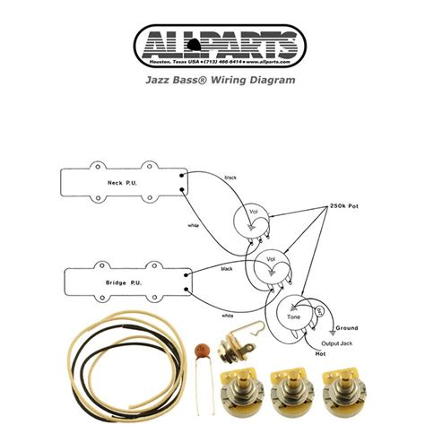 Jazz Bass Wiring Kit Allparts