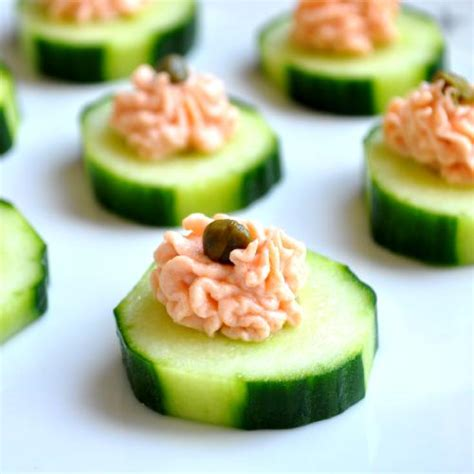simple canapes salmon canapes recipe dishmaps