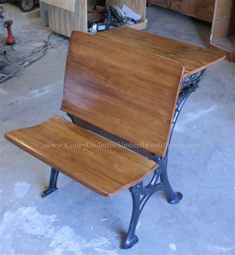 Vintage School Desk Restoration by Refinishing An Antique Schooldesk Coffee The Umbrella