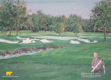 ohio state university scarlet golf  campus art print