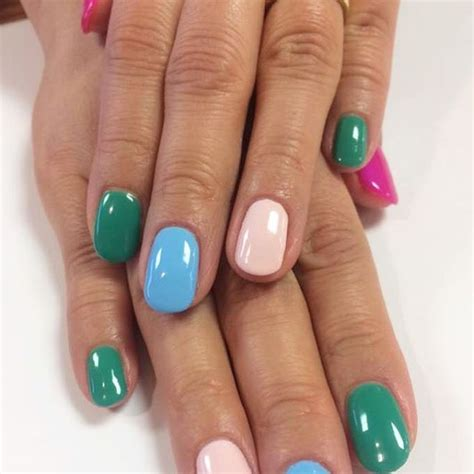 multi coloured nails new trend and best designs ladylife