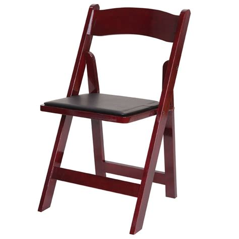 mahogany wood folding chair the chair guys
