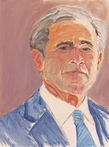 Moma Design Shop George W Bush Exhibits 30 Painted Portraits Of World Leaders