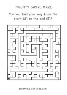 mazes for printable mazes find the way through