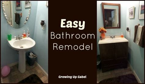 easy bathroom remodel  moen boardwalk faucet