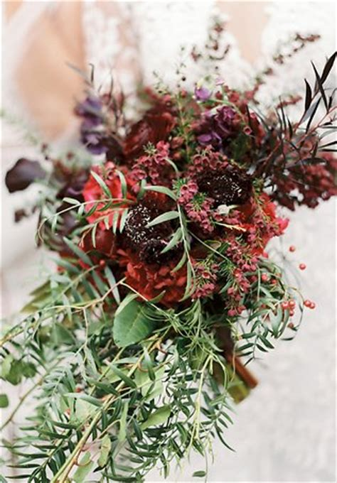 rustic  red bridal bouquet bouquet wedding flower
