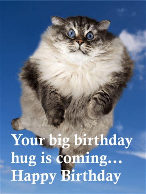 big birthday hug  coming funny birthday card birthday