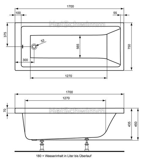 Maße Badewanne Standard by Badewanne Ma 223 E Standard Energiemakeovernop