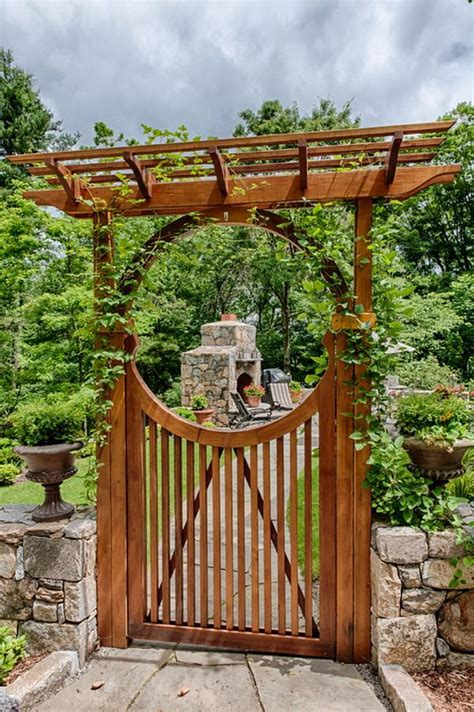best 25 wooden garden gate ideas on wood